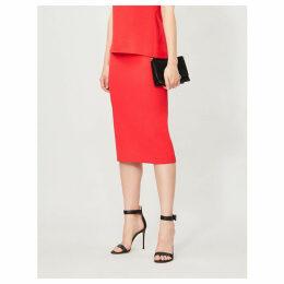 Arreton high-waist wool-crepe pencil skirt