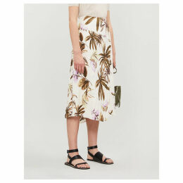 Tropical Garden crepe skirt