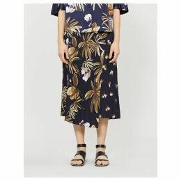Tropical Garden crepe skirt
