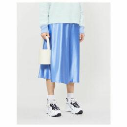 Alsop high-waisted satin midi skirt