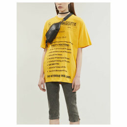 Care label-print cotton-jersey T-shirt