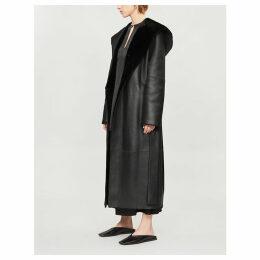 Riona shearling waist-tie coat