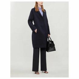 Bow-back twill coat
