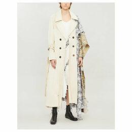 Asymmetric cotton-blend coat