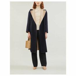 Zibetto two-tone longline wool coat