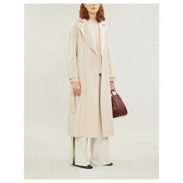 Oncia tassle-fringe belt wool-blend coat