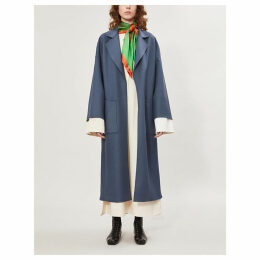 Oversized wool and cashmere-blend coat