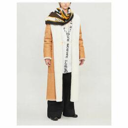 Shearling wrap coat