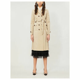 Double-breasted stretch-cotton twill trench coat