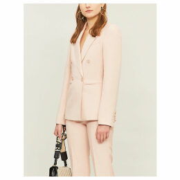 Peak-lapel wool-blend blazer