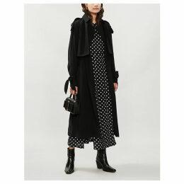 Drapey woven trench coat