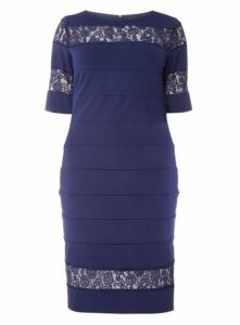 Paper Dolls Navy Blue Bodycon Dress, Navy