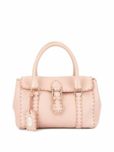 Fendi Pre-Owned stitched detailed hand bag - Pink