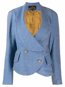 Vivienne Westwood Pre-Owned double-breasted peplum jacket - Blue