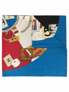 Chanel Pre-Owned logo mix scarf - Multicolour