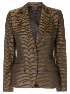 Fendi Pre-Owned leopard pattern blazer - Brown