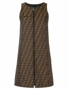 FENDI PRE-OWNED reversible dress - Brown