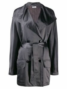 Valentino Pre-Owned 1980's double-breasted belted coat - Grey