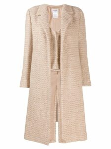 Chanel Pre-Owned tweed coat - Neutrals