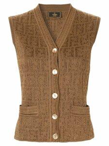 Fendi Pre-Owned FF logo knit top - Brown