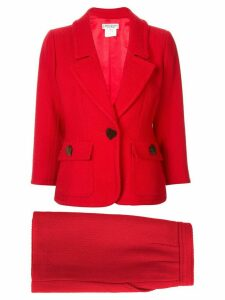 Yves Saint Laurent Pre-Owned jacket and skirt suit - Red