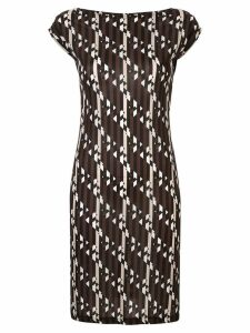 FENDI PRE-OWNED graphic print dress - Black