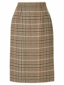 Burberry Pre-Owned plaid straight skirt - Brown