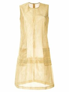 Comme Des Garçons Pre-Owned layered slim-fit dress - Gold
