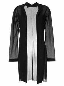 Yohji Yamamoto Pre-Owned sheer elongated open jacket - Black