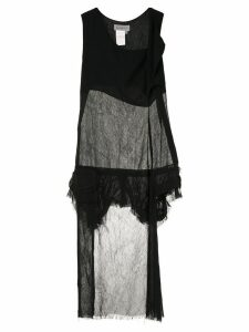 Yohji Yamamoto Pre-Owned sheer raw dress - Black