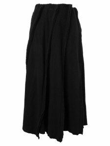 Comme Des Garçons Pre-Owned ribbed knit skirt - Black