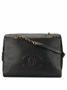 Chanel Pre-Owned CC logos chain shoulder bag - Black