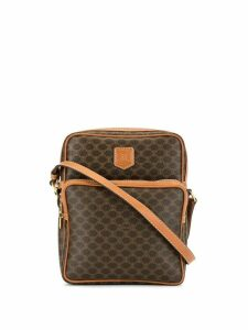Céline Pre-Owned Macadam pattern shoulder bag - Brown
