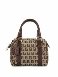 Fendi Pre-Owned Zucca pattern hand bag - Brown