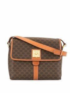 Céline Pre-Owned Macadam pattern shoulder bag - Brown