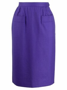 Yves Saint Laurent Pre-Owned 1980's tailored pencil skirt - Purple