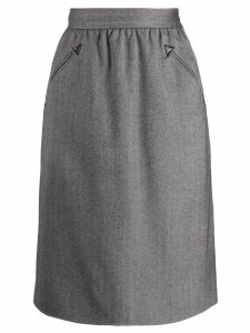 Yves Saint Laurent Pre-Owned 1980's pencil skirt - Grey
