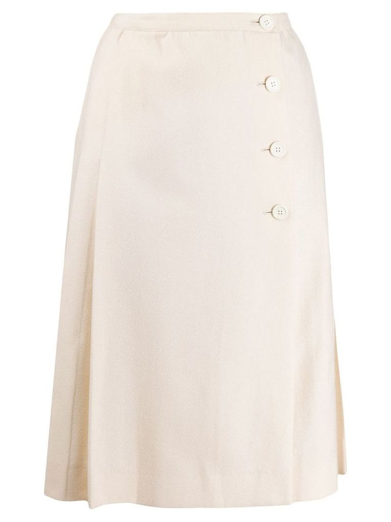 Yves Saint Laurent Pre-Owned 1970's pleated skirt - Neutrals