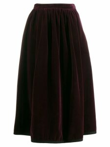 Yves Saint Laurent Pre-Owned 1970's velvet skirt - Purple