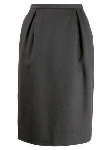 Yves Saint Laurent Pre-Owned 1990's pencil skirt - Brown