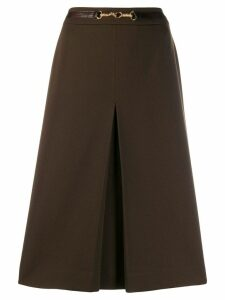 CÉLINE PRE-OWNED pleated style skirt - Brown