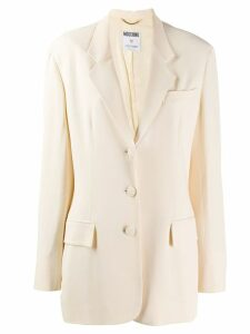 Moschino Pre-Owned 1990's tailored blazer - NEUTRALS