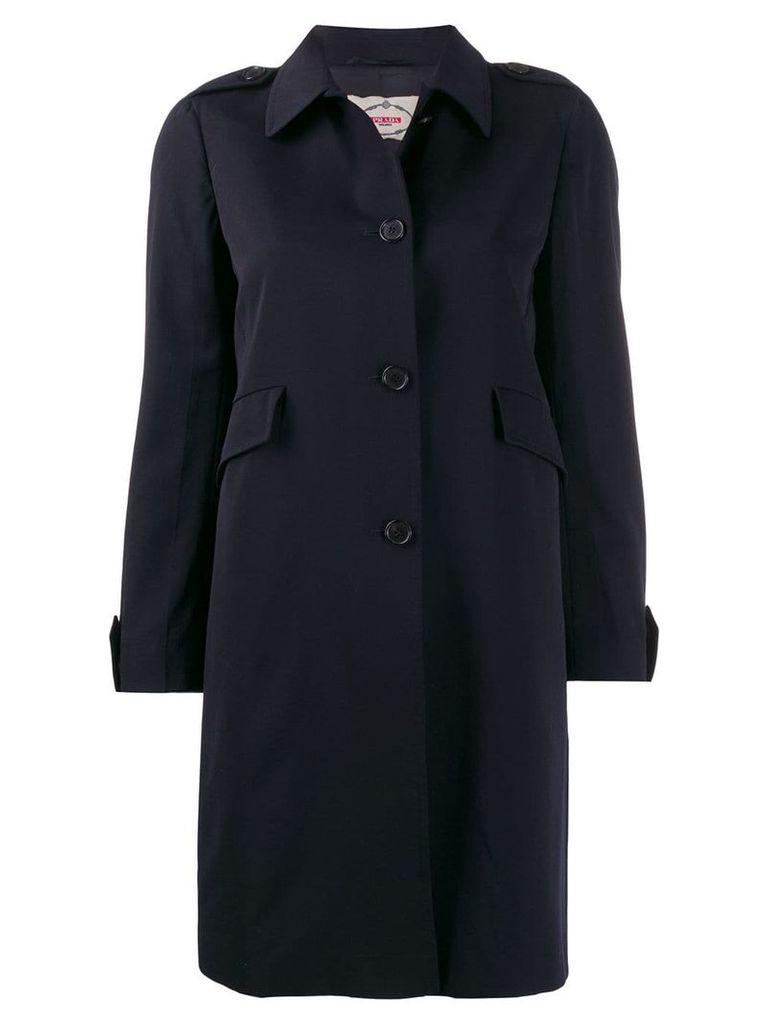 Prada Pre-Owned 1990's trench coat - Blue