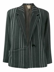 Versace Pre-Owned 1980's striped jacket - Grey