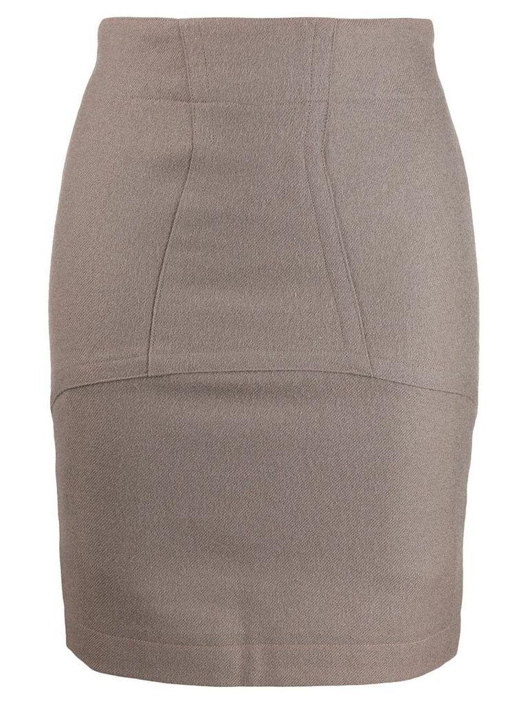 Alaïa Pre-Owned 1990's skirt - Neutrals