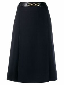 Céline Pre-Owned chain detail skirt - Blue