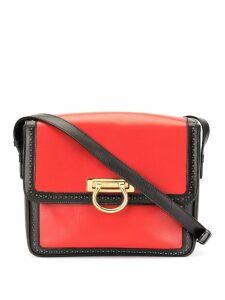 Céline Pre-Owned logo handle flap shoulder bag - Black