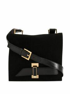 Fendi Pre-Owned logos shoulder bag - Black