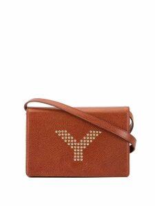 Yves Saint Laurent Pre-Owned studded y shoulder bag - Red