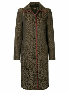 Fendi Pre-Owned leopard print midi coat - Brown